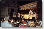 Die Feiern in die Ehre des Friedensbanners in Brasilien