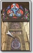 Ein Fragment von der Fensterrose, Kathedrale von Reims, Frankreich