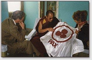 Dalai-Lama und Alicia Rodriquez, 1990