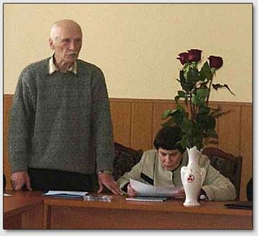 J.M.Kljuchnikov vorträgt