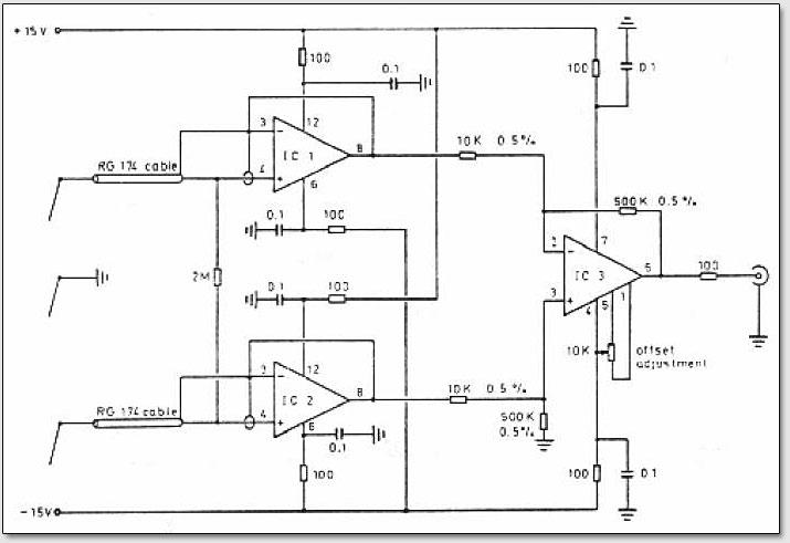 Схема усилителя аппаратуры для