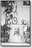 Der Ehrenplatz des Lehrers im Raum der lettischen Roerich-Gesellschaft, 30-e Jahren der vorigen Jahrhundert