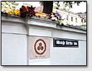 Die Strasse namens N.K.Roerichs in Riga, Lettland.