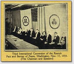 Dritte Internationale Konferenz des Roerich Paktes und Friedensbanners, Washington, 17 November, 1933.