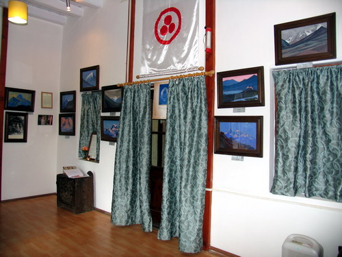 The IRMT Art Gallery has 37 original paintings of Nicholas Roerich, and 11 paintings of Svetoslav Roerich.