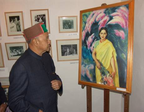 Former Chief Minister of H.P.Sh.Virbhadra Singh during the inauguration  of the Memorial,  on the 30th October 2004