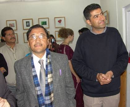 Flowers - Photo exhibition by Ashwini Bhatia,Dharamsala, Himachal Pradesh (at the right side),inaugurated during S.Roerich Centenary Celebration on 30th October 2004