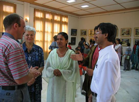 'Vibration of Nature' - Painting exhibition by Prabir and Banasree Dutta, Shyamnagar, West.Bengal.,  inaugurated by the Counselor of the Russian Embassy, Mr A.Khozin on 1st May 2005