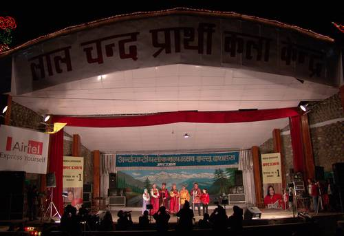 Folk ensemble 'Yarmanka' from Altai, Russia performs at Kullu Dussehra