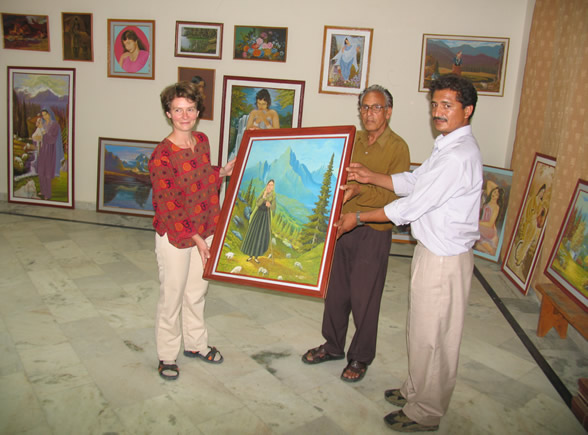 Painting exhibition by Om Chand Sharma,  Mandi, H.P.