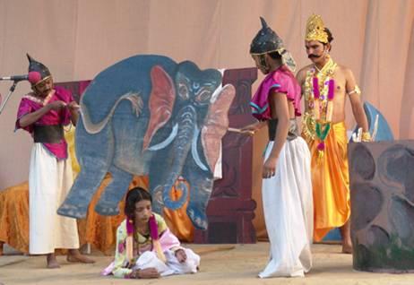 Drama 'Boy who loved Vishnu' performed during Svetoslav Roerich  Centenary function, 30.10.04
