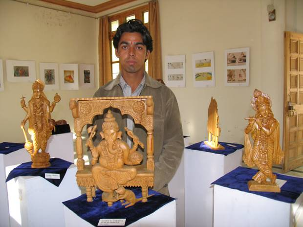 'When deities descend…' - Exhibition of wooden carved sculptures by Ses Ram, Rumsu, Kullu distt., Himachal Pradesh