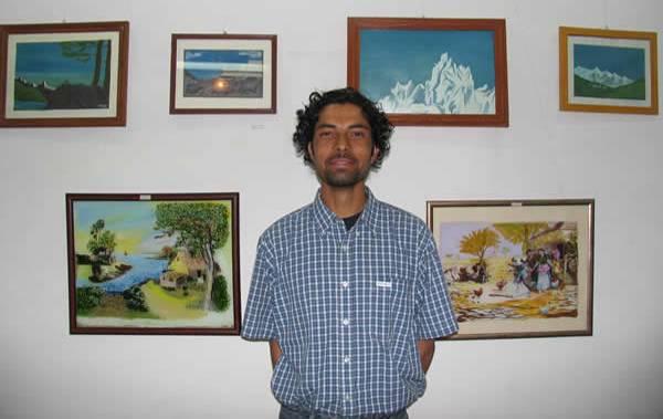 'Beauty of Himachal Pradesh' - Painting exhibition by Sudarshan Kumar, Raison, Kullu distt., Himachal Pradesh