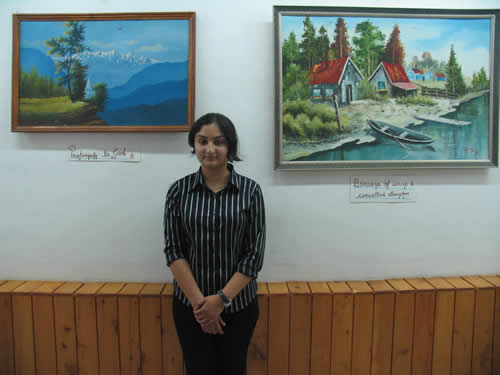 'Blessed colors' - Painting exhibition by  Kumari Bhavya Singh, Kullu, Himachal Pradesh