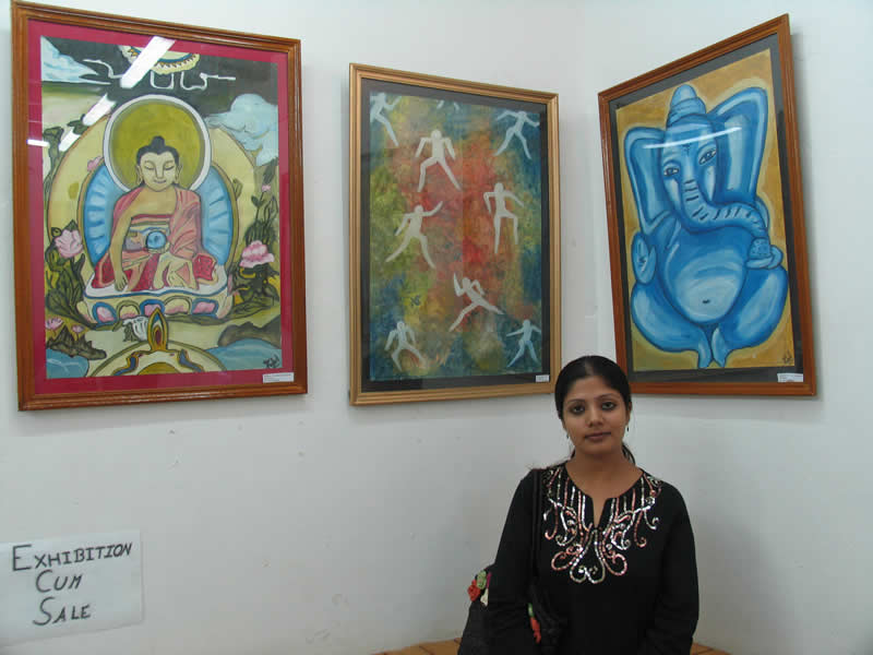 Painting exhibition by Rubel Pasricha, Kullu, Himachal Pradesh