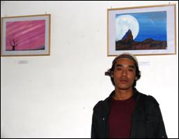 Painting exhibition by Ashok Bodh, Naggar, Himachal Pradesh
