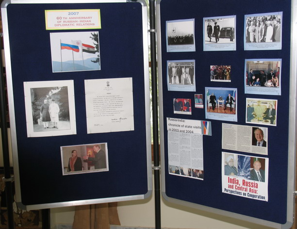 Photo exhibition dedicated to the 60th Anniversary of Russian- Indian diplomatic relations