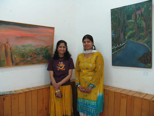 Oil paintings exhibition by    Neha Sharma and Divya Sharma, Shimla, Himachal Pradesh