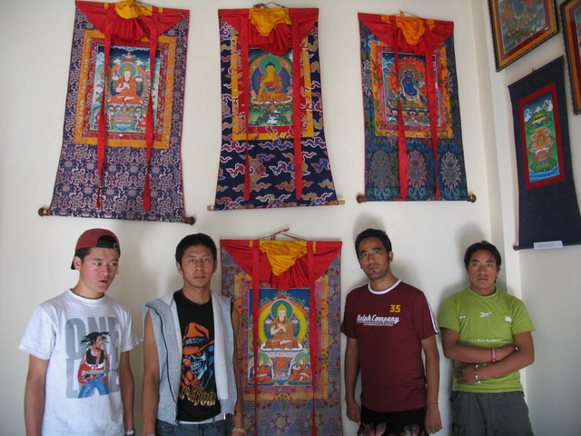 'Buddhist Thangkhas Art' - Painting exhibition by students from Tibetan Children Village School, Patlikhul, Himachal Pradesh