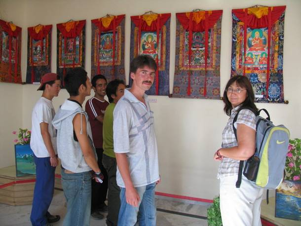 'Buddhist Thangkhas Art' - Painting exhibition by students from Tibetan Children Village School, Patlikhul, Himachal Pradesh