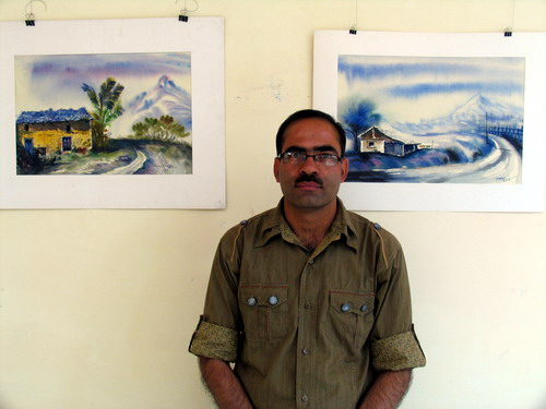 Water colour paintings by Chaman Sharma,   Solan, H.P.