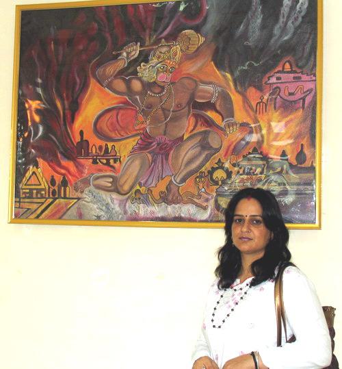 Painting Exhibition by Sapna Sharma, Mandi, H.P.