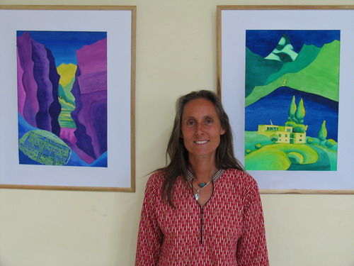 'Impressions of the High Himalayas' - Painting  exhibition by Natascha Dorflinger, Austria