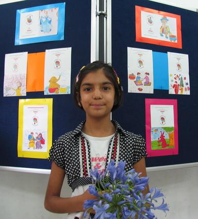 Exhibition of postcards painted by Ravi-Tanaya, Shimla, Himachal Pradesh