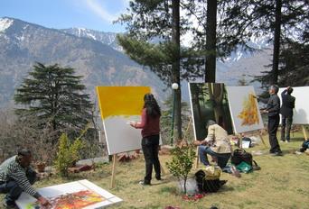 Regional Painters Camp 2011 (LKA, New Delhi; LAC dept., H.P. Govt. & IRMT)