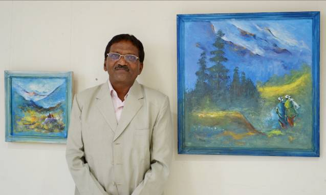 'Him Darshan' - Painting exhibition by Atmaram Koigade, Kurukali,  Maharashtra