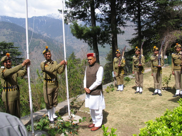 Lifting of National flags
