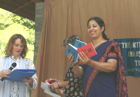 Release of the first three Agni Yoga books printed for the occasion