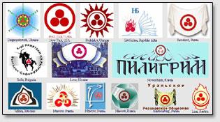Logos der Roerich-Gesellschaften